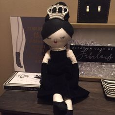 audrey hepburn doll, art doll for collectors, birthday gift doll.
