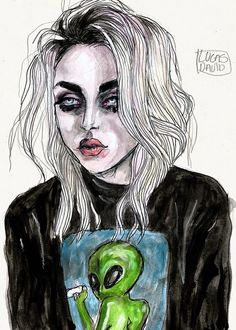Frances Bean Cobain by Lucas David.