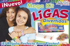 ¡Nuevo Mega Kit de Ligas Divertidas! Da cick y la imagen y compra tu Mega kit de Ligas Divertidas ideal para hacer pulseras, anillos, collares, cinturones, figuras de animalitos, llaveros, y muchas cosas más con ligas de colores