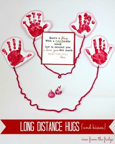 Long Distance Hugs! Great idea to send a little love this holiday season!