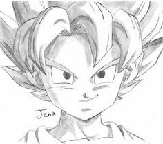 dibujos de goku normal a lapiz  Buscar con Google  Really