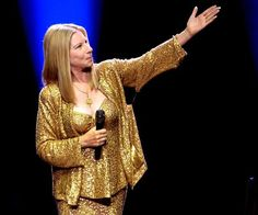 Barbra Streisand - I am so in love with this gold, shimmering outfit