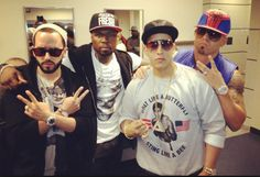 wisin y yandel daddy yankee and 50c squading up