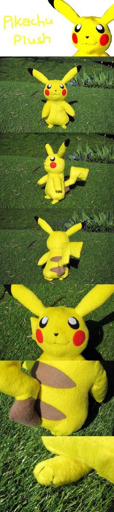 plush pikachu to make pokemon crafts pinterest plush