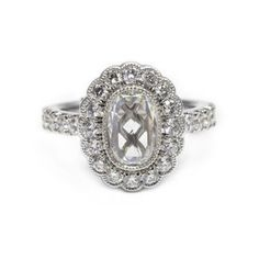 Vintage Bezel Halo Ring