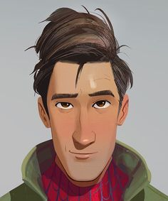 ome early look dev on Peter Parker. Close ups to show the abstract goodness Marvel Characters, Marvel Movies, Cartoon Characters, Spider Verse, Miles Morales Spiderman, Character Art, Character Design, Foto Top, Spiderman Art