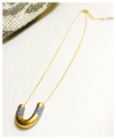 colorblock U shape tube bead necklace by Byachadjewelry on Etsy