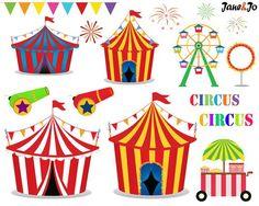 56 circo clipart prediseñadas de circo payasos por JaneJoArt