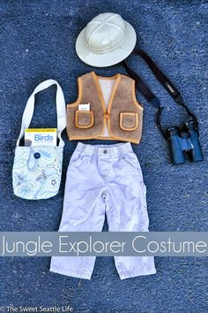 DIY Jungle Explorer Halloween Costume