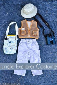DIY Jungle Explorer Halloween Costume