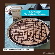 Wildtree heavenly chocolate mousse, chocolate mousse pie, Oreo crust, easy no bake dessert, no bake pie, contact me for ordering.