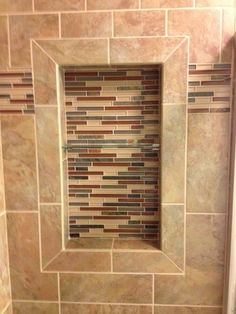 Recessed Shower Tile Shelves - A shower caddy is a very helpful accessory for helping to keep the toilet neat, organized and Recessed Shelves, Corner Shelves, Shelving, Baby Bedroom, Bedroom Decor, Square Tray, Shower Shelves, Baby Design, Kitchen Storage