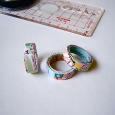 Map rings - literally. Rings made out of maps. I think these are pretty adorable.