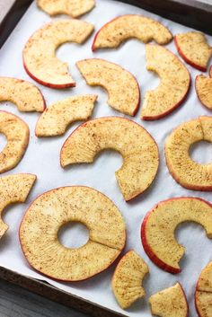 Spiralized apple chips are super easy, crisp, and baked! A spiralizer makes slicing the apples a breeze and ensures they're of a consistent thinness. A simple shake of cinnamon and sugar are all you need to flavor this snack favorite!