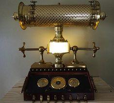 Antique Vintage Lamp Light Machine Age Steampunk Collectibles