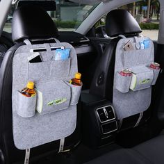Car Back Seat Storage Bag Car Seat Cover Organizer Trash Net Holder Multi-Pocket Holder for Organizer Auto Storage Pouch Backseat Car Organizer, Car Seat Organizer, Car Organizers, Car Boot Organiser, Bag Hanger, Seat Storage, Hanging Storage, Kids Storage, Extra Storage