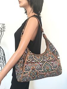 Tignanello Bag Purse Designer Fashion Canvas Multicolor Hip Chic | eBay