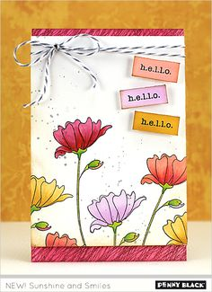 Featuring stamps and dies from Penny Black's newest 2015 release-- visit our blog for details and a giveaway!
