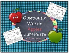 This is a compound words cut and paste product that I can see being used for fast-finishers, sub plans, intervention supplements, homework, or really whenever you have a some time to fill with an activity that isn't just a coloring page. Each page has a coordinating graphic for one of the compound words on the page.