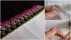 Havlu Kenarı İçin Çıtı Pıtı Çok Güzel İğne Oyası Anlatımlı Yapılışı Hairpin Lace Crochet, Needle Tatting, Fabric Flowers, Sewing Tutorials, Hair Pins, Embroidery Patterns, Needlework, How To Make, Crafts