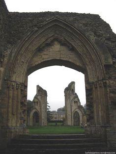 Glastonbury Abbey, Somerset, England, where, according to legend, King Arthur is buried.