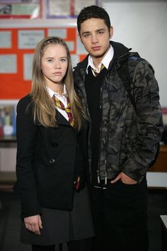Photo of Chlo and Donte for fans of Waterloo Road Couples 23015614 School Girl Outfit, Girl Outfits, Waterloo Road, Women Ties, Movies And Tv Shows, Character Inspiration, Bomber Jacket, Actresses, Couple Photos