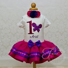 Butterfly Birthday Outfit, Butterfly Tutu Outfit, Butterfly Birthday, Girls Birthday Outfit, Butterfly Tutu Outfit, Pink Birthday Outfit