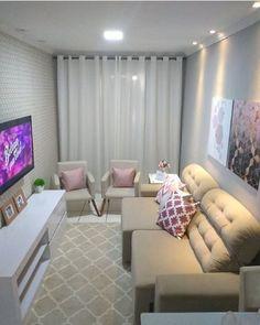 Sala pequena decorada: 70 inspirações e ideias para você! Small Living Room Design, Home Living Room, Living Room Designs, Living Room Decor, Bedroom Decor, Living Room Inspiration, Home Decor Inspiration, House Design, Period