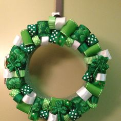 St Pats Day Wreath I made