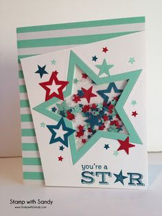 Stamp with Sandy: Shaker Stars for The Paper Players