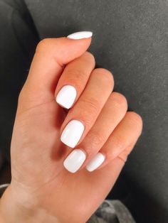 White nail art design for 2020 by Aphrodite white nail polish will never be outdated, so it will naturally be included in th. White Acrylic Nails, White Nail Art, White Nail Polish, Summer Acrylic Nails, Best Acrylic Nails, Acrylic Nail Designs, White Manicure, Summer Nails, Pretty Nails For Summer