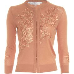 l'wren scott + embroidered cashmere cardigan