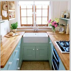 Farmer Sink and cute cabinet color