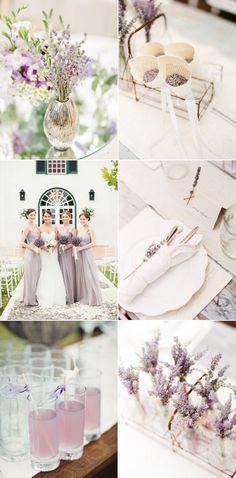 Spring lavender wedding..