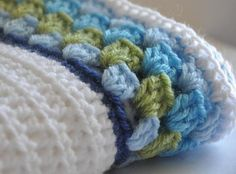 Really like the border on this crocheted baby blanket.