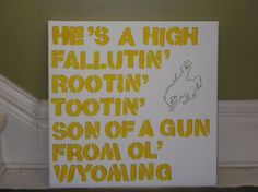 Wyoming fight song Can't believe I remember this:  He's some cowboy, talk about your cowboy, ragtime cowboy Joe!