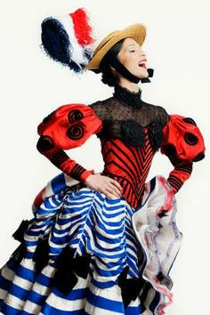 obyn Hendricks in Christian Lacroix  Costume for the Lead Can Can Dancer 1988  Gâité Parisienne, American Ballet Theatre