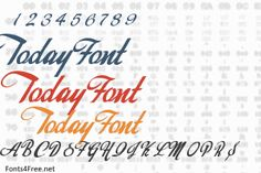 Today Font Old School Fonts