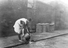 Communal Water Pump on Malt Mill Lane, part of the notorious slums of Narrow Marsh: