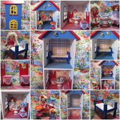 By Hook, By Hand: dollhouses