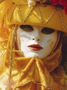 Person Wearing Masked Carnival Costume, Venice Carnival, Venice, Veneto, Italy Photographic Print by Bruno Morandi at AllPosters.com