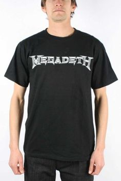 Amazon.com: Megadeth - Logo Adult T-shirt In Black: Clothing MICHAEL