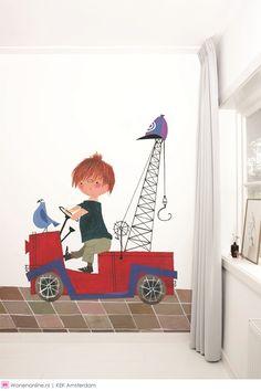 KEK AMSTERDAM haalt Fiep Westendorp naar de kinderkamer. #kidsroom #fiepwestendorp #plukvandepetteflet #behang #wallpaper #muurstickers #floddertje #smeerkees #pimenpom