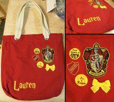 Gryffindor Tote Bag. $40.00, via Etsy.