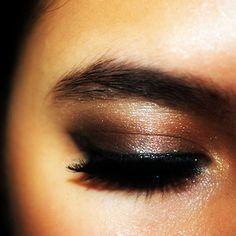 deep brown smoky eye