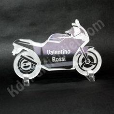Porte-nom de table pour une déco sur le thème moto, motards