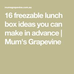 16 freezable lunch box ideas you can make in advance | Mum's Grapevine