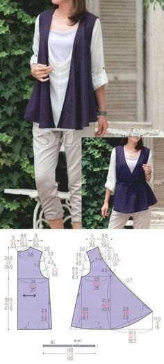 Amazing Sewing Patterns Clone Your Clothes Ideas. Enchanting Sewing Patterns Clone Your Clothes Ideas. Sewing Dress, Sewing Clothes, Crochet Clothes, Diy Clothes, Clothes For Women, Easy Sewing Patterns, Coat Patterns, Blouse Patterns, Clothing Patterns