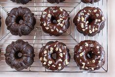 Holiday Desserts: Chocolate Gingerbread Mini Bunt Cakes | @HamiltonBeach