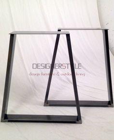 tafelonderstellen & Industriële tafelpoten staal - designerstyle.nl ontwerpt en maakt Industriële tafels, RVS tafels, houten tafels en vele andere designmeubelen voor binnen en buiten